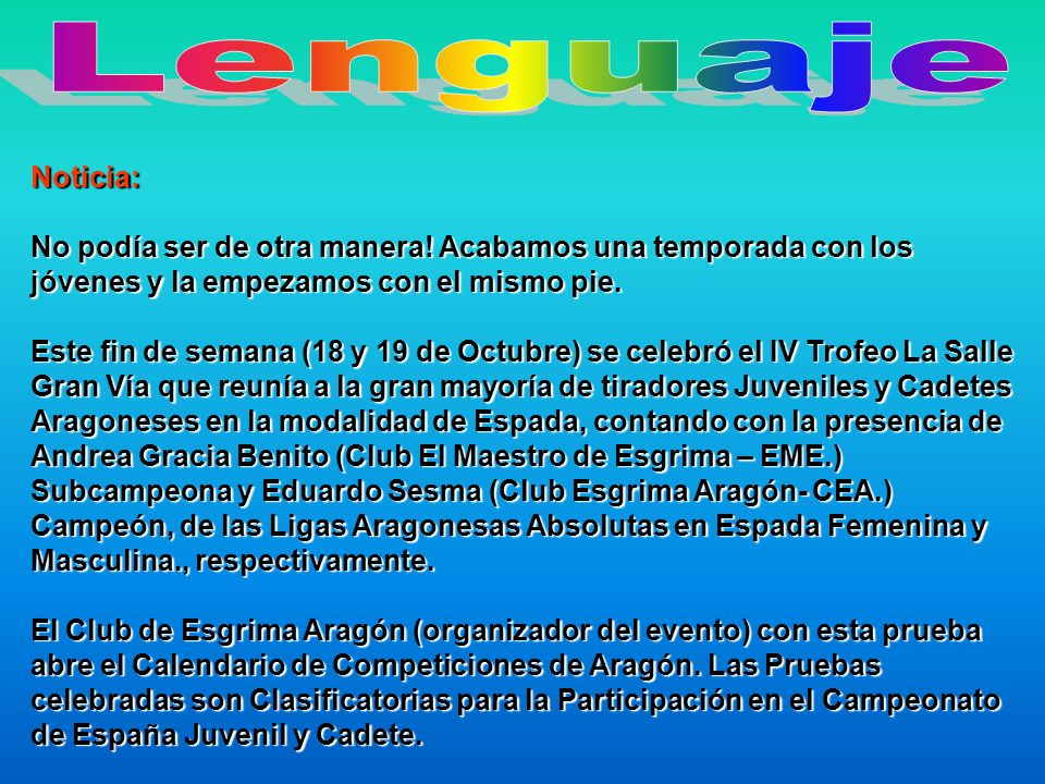 LenguajeNoticia: