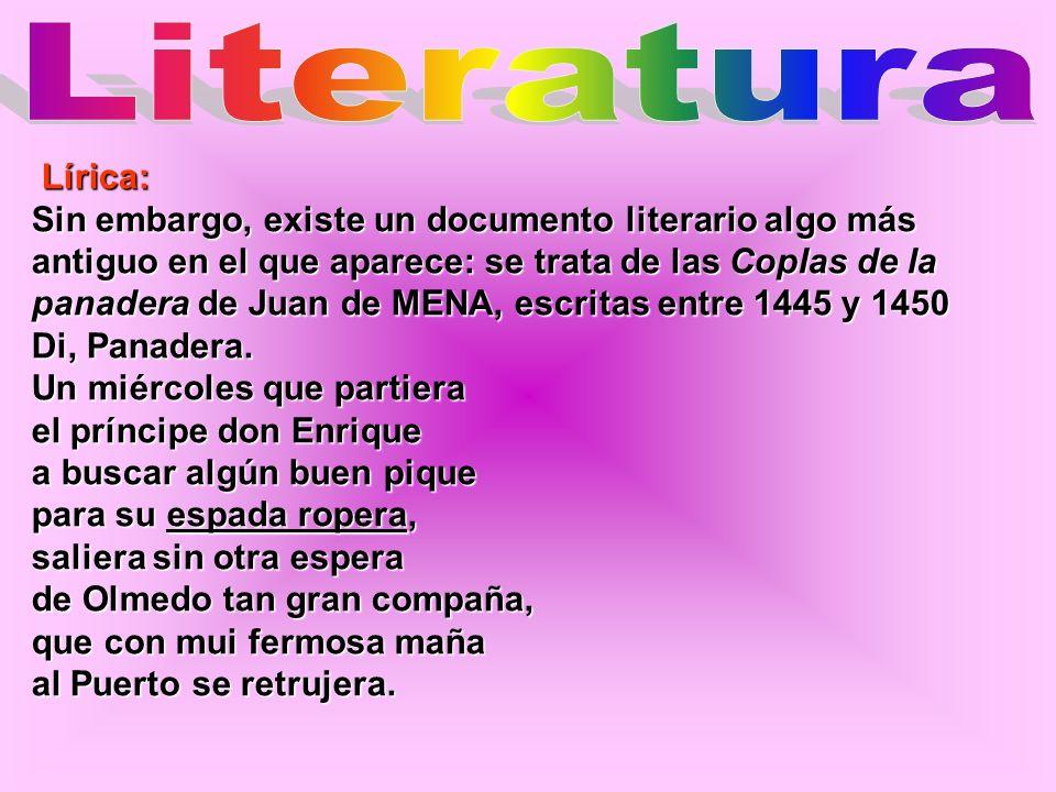 LiteraturaLírica: