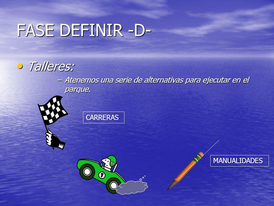 FASE DEFINIR -D- Talleres: