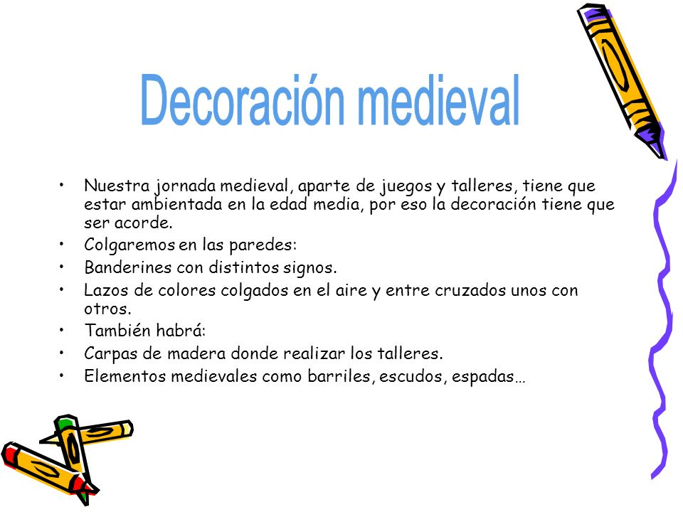Decoración medieval