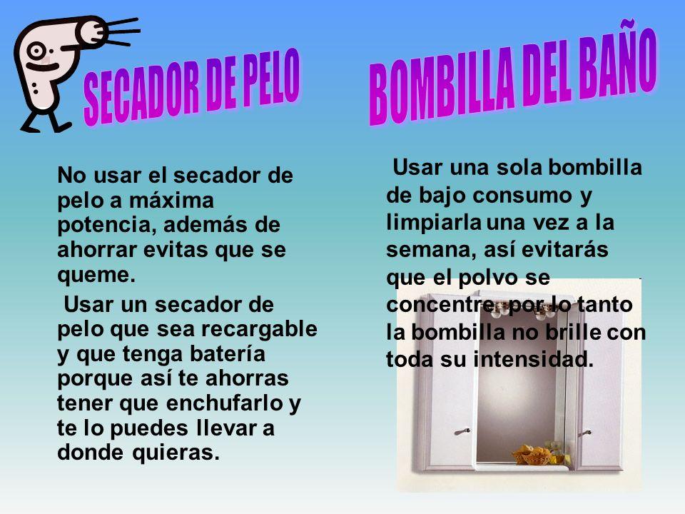 BOMBILLA DEL BAÑO SECADOR DE PELO