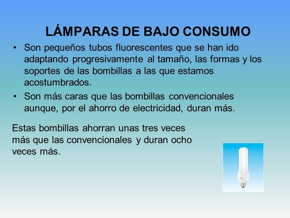 LÁMPARAS DE BAJO CONSUMO