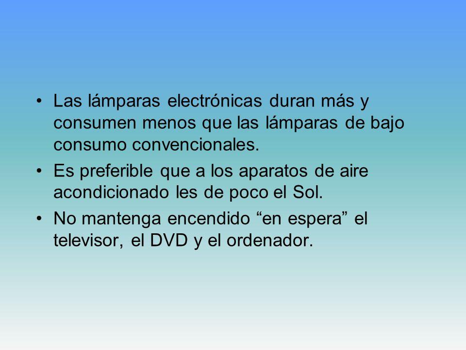 Las lámparas electrónicas duran más y consumen menos que las lámparas de bajo consumo convencionales.