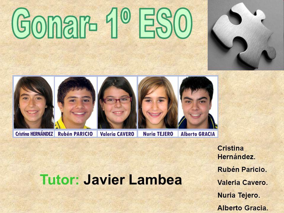 Gonar- 1º ESO Tutor: Javier Lambea Cristina Hernández. Rubén Paricio.