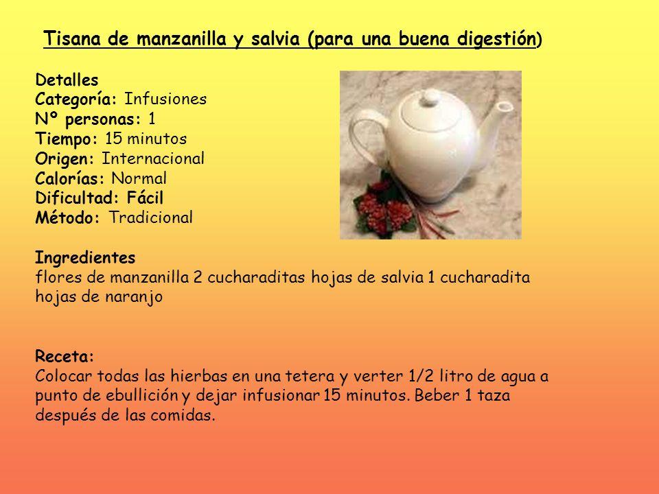 Tisana de manzanilla y salvia (para una buena digestión)