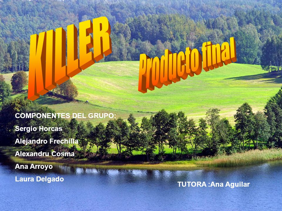 KILLER Producto final COMPONENTES DEL GRUPO: Sergio Horcas