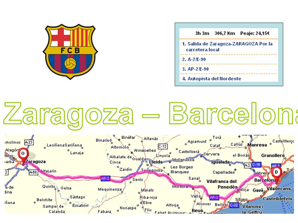 Zaragoza – Barcelona