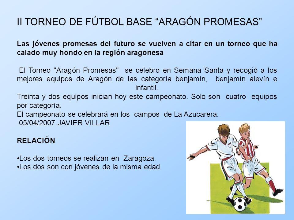 II TORNEO DE FÚTBOL BASE ARAGÓN PROMESAS