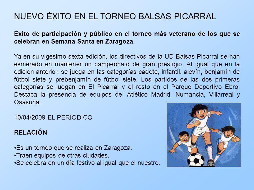 NUEVO ÉXITO EN EL TORNEO BALSAS PICARRAL