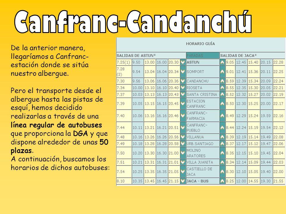 Canfranc-Candanchú De la anterior manera, llegaríamos a Canfranc-estación donde se sitúa nuestro albergue.