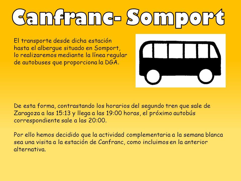 Canfranc- Somport El transporte desde dicha estación