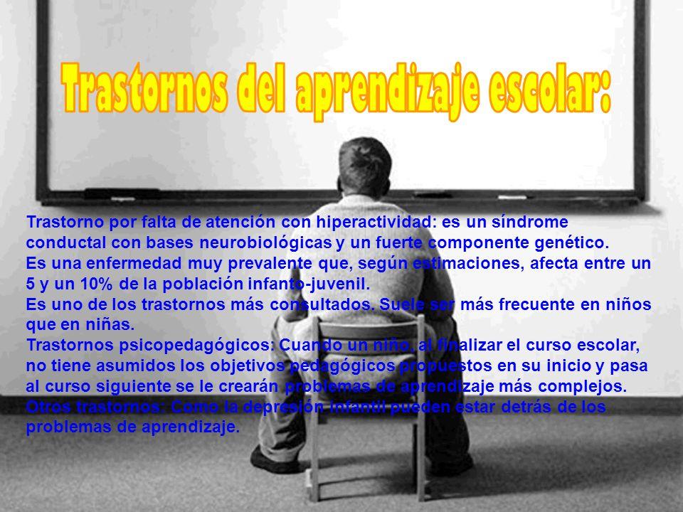 Trastornos del aprendizaje escolar:
