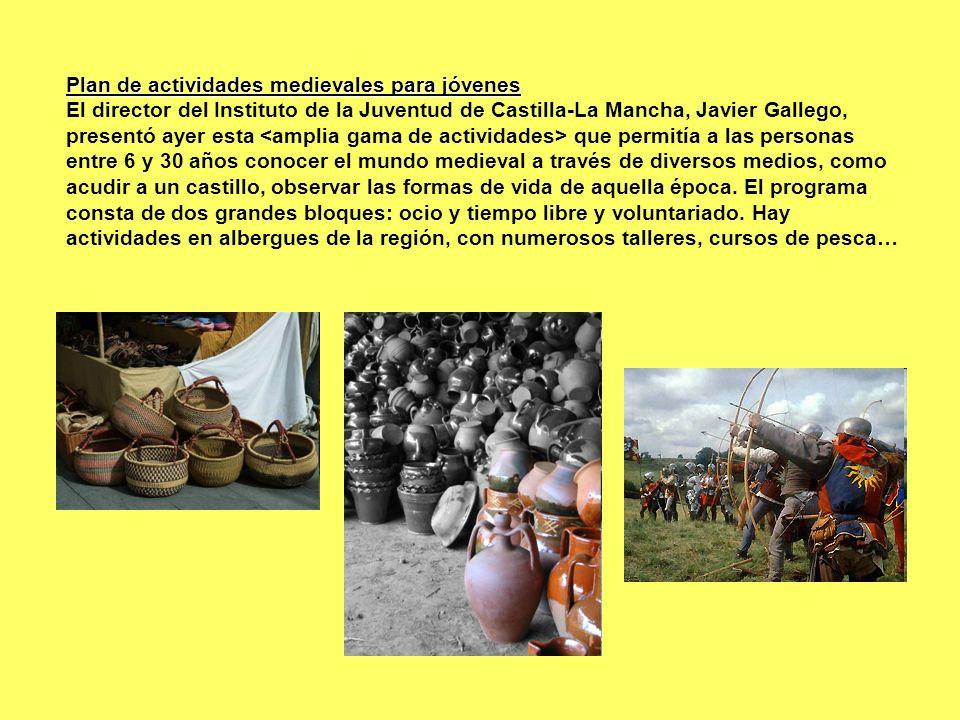 Plan de actividades medievales para jóvenes