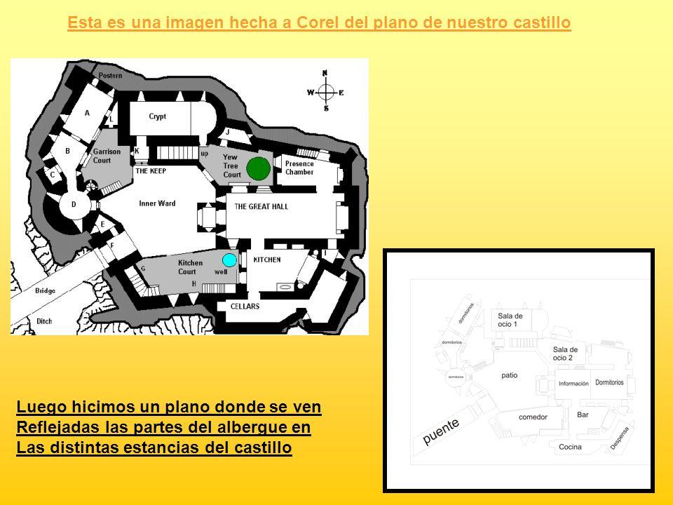 Esta es una imagen hecha a Corel del plano de nuestro castillo