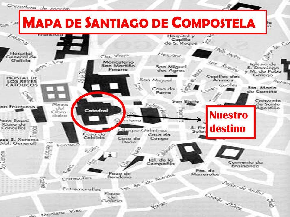 MAPA DE SANTIAGO DE COMPOSTELA