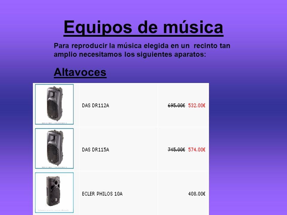 Equipos de música Altavoces