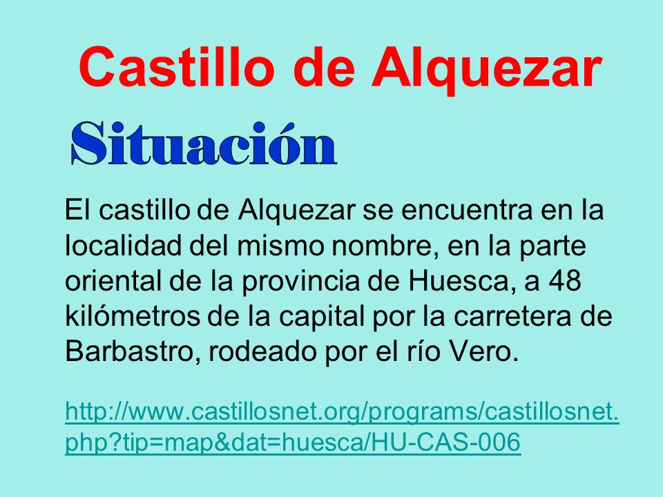 Castillo de Alquezar Situación