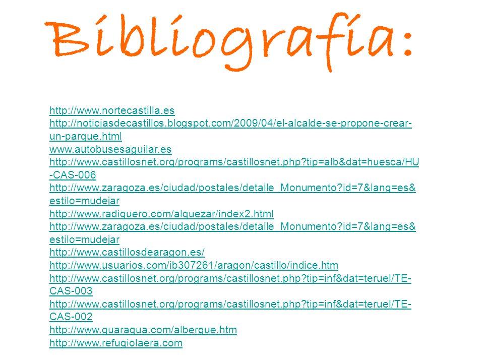 Bibliografía: http://www.nortecastilla.es