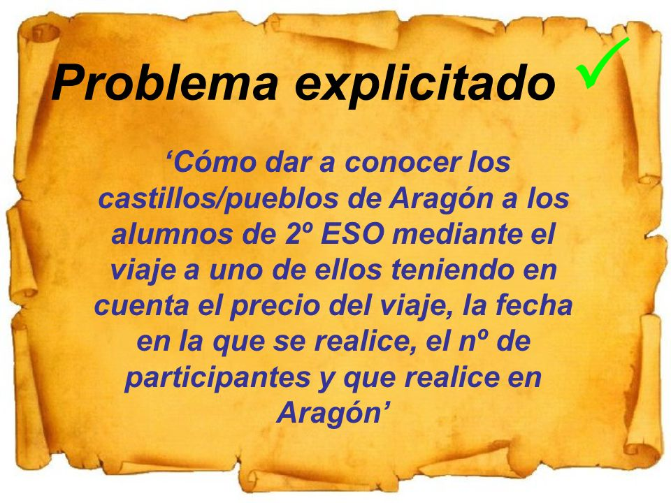 Problema explicitado P