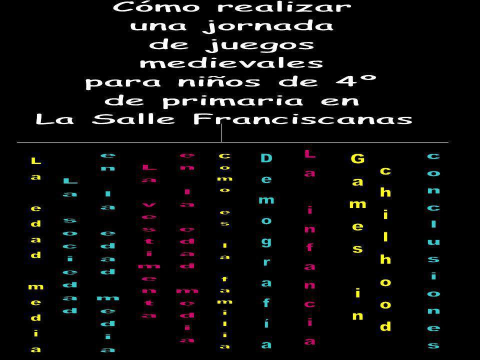 Cómo realizar una jornada. de juegos. medievales. para niños de 4º. de primaria en. La Salle Franciscanas.