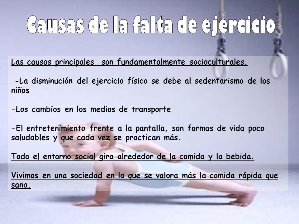 Causas de la falta de ejercicio