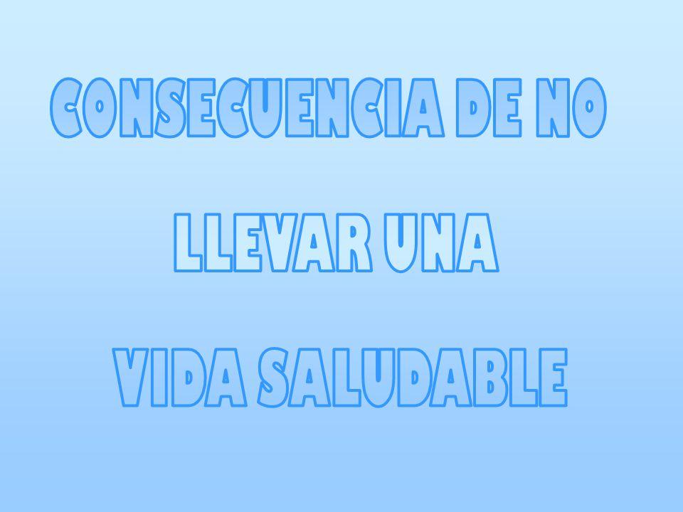 CONSECUENCIA DE NO LLEVAR UNA VIDA SALUDABLE