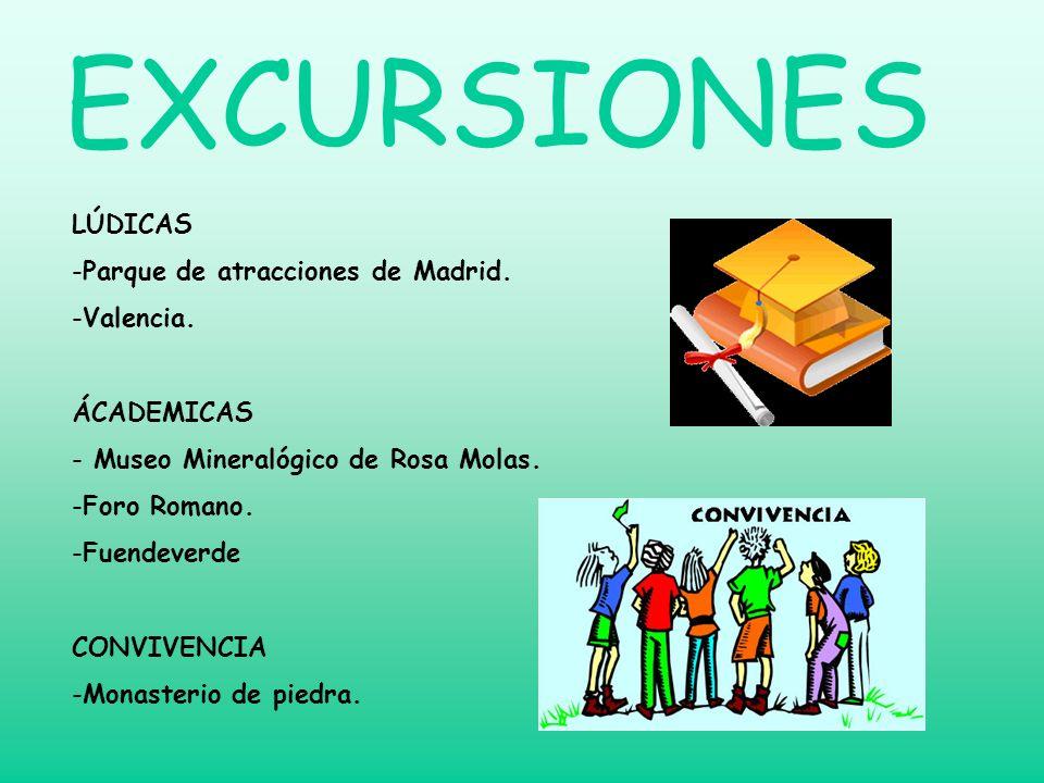 EXCURSIONES LÚDICAS Parque de atracciones de Madrid. Valencia.