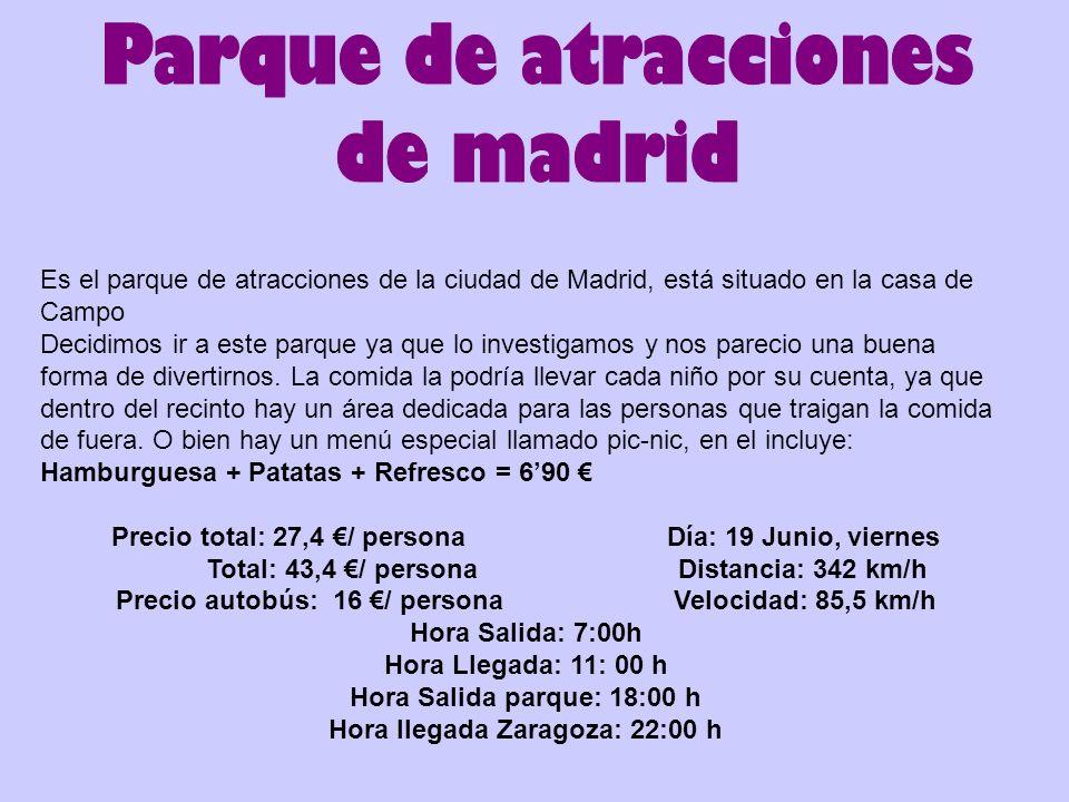 Hora llegada Zaragoza: 22:00 h