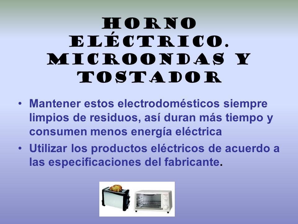 Horno eléctrico. microondas y tostador