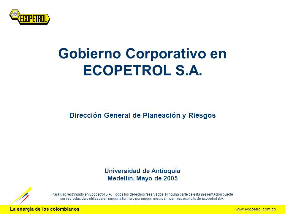 Gobierno Corporativo en ECOPETROL S.A.