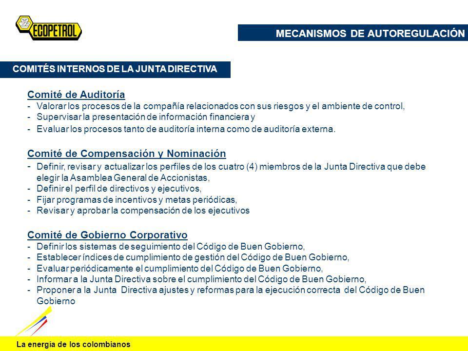 COMITÉS INTERNOS DE LA JUNTA DIRECTIVA