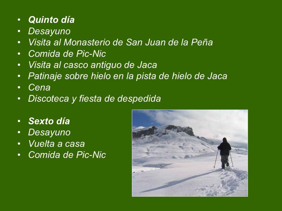Quinto día Desayuno. Visita al Monasterio de San Juan de la Peña. Comida de Pic-Nic. Visita al casco antiguo de Jaca.