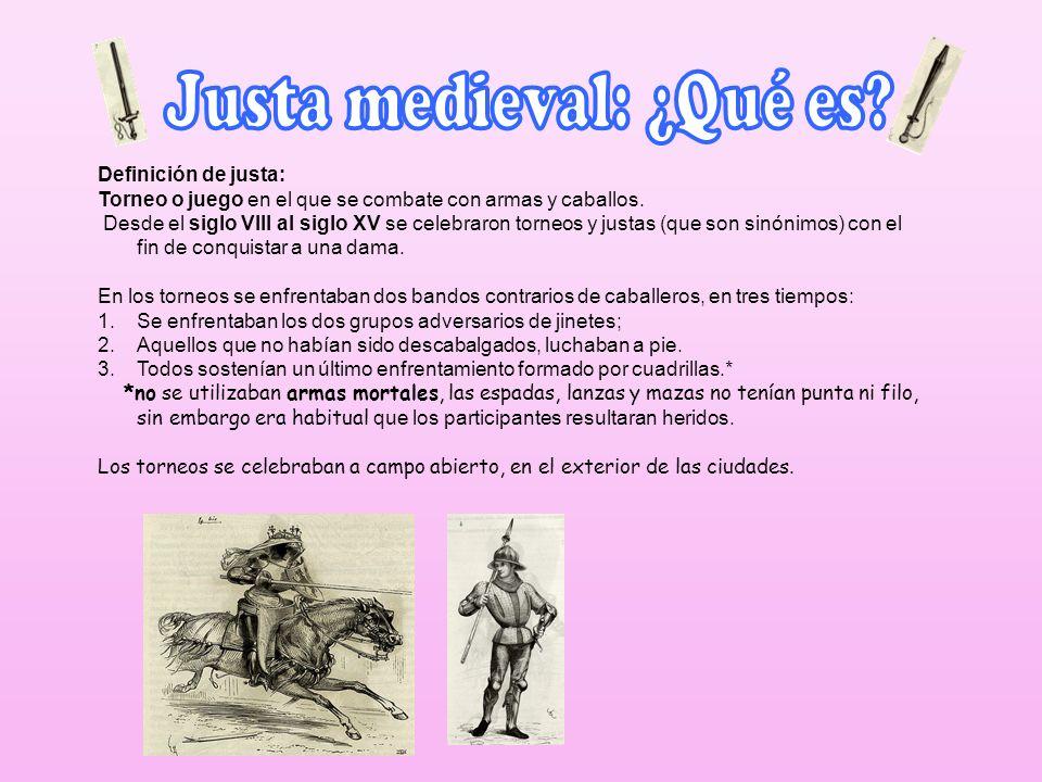 Justa medieval: ¿Qué es