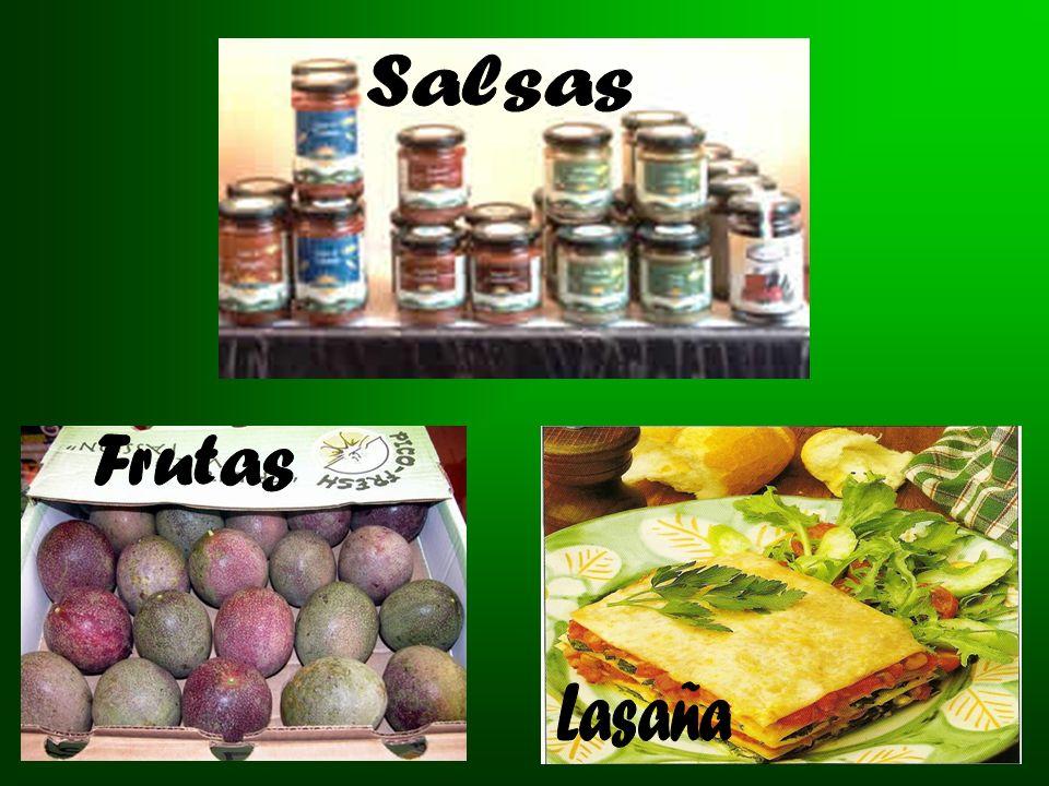 Salsas Frutas Lasaña