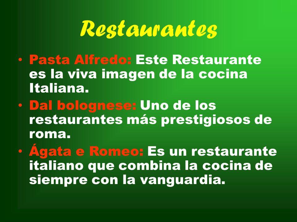 Restaurantes Pasta Alfredo: Este Restaurante es la viva imagen de la cocina Italiana.