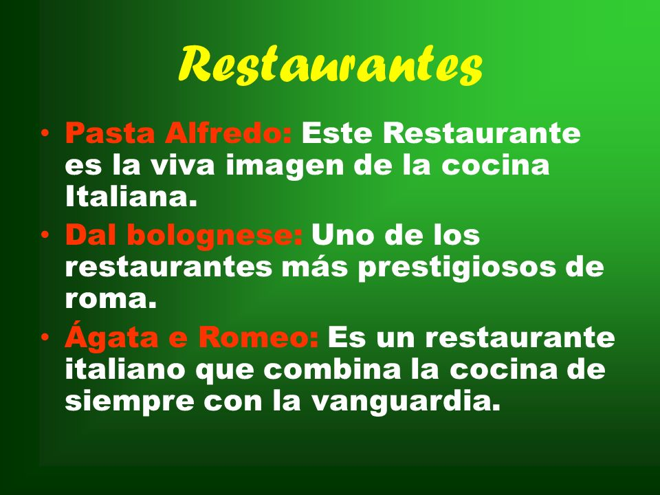 RestaurantesPasta Alfredo: Este Restaurante es la viva imagen de la cocina Italiana.