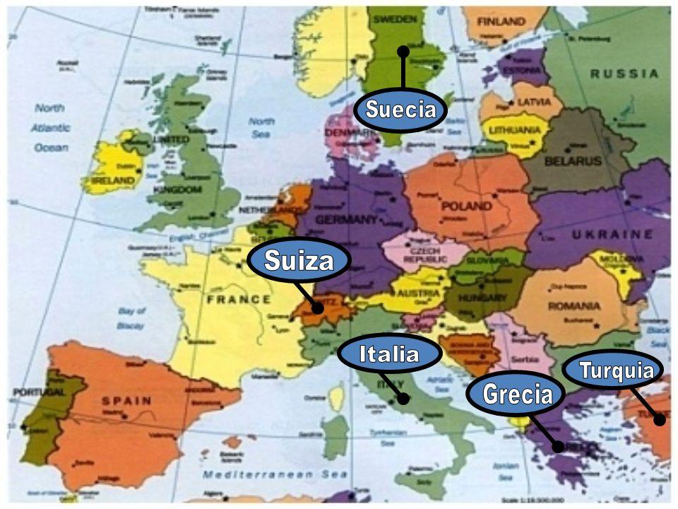 Suecia Suiza Italia Turquia Grecia