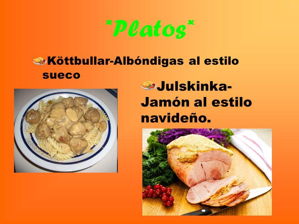*Platos* Julskinka- Jamón al estilo navideño.