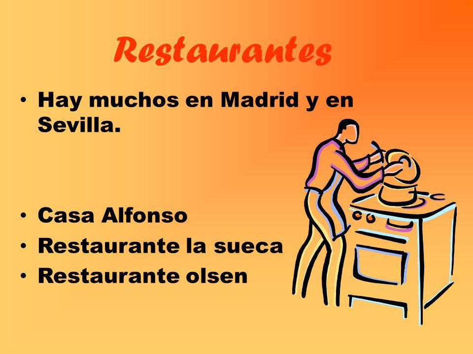 Restaurantes Hay muchos en Madrid y en Sevilla. Casa Alfonso