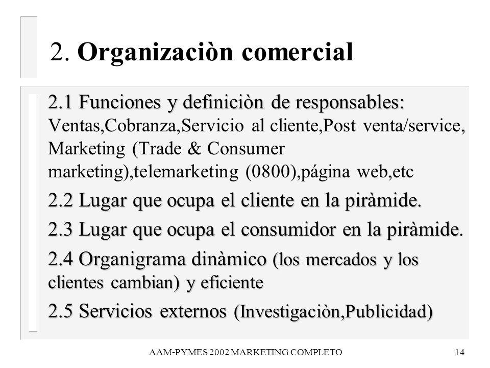 2. Organizaciòn comercial