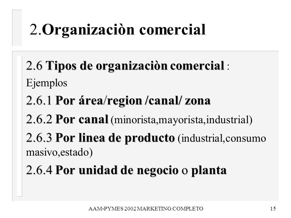 2.Organizaciòn comercial