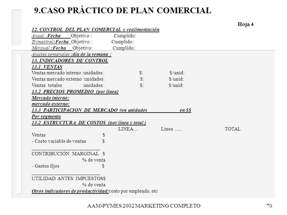 9.CASO PRÁCTICO DE PLAN COMERCIAL Hoja 4