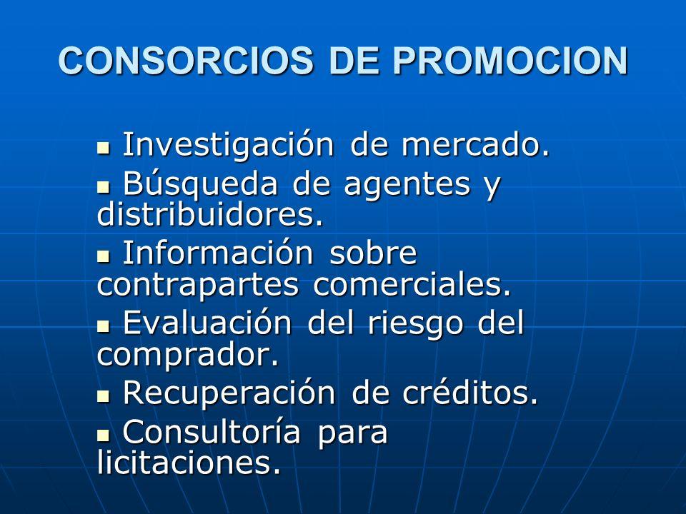 CONSORCIOS DE PROMOCION