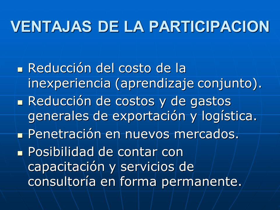 VENTAJAS DE LA PARTICIPACION