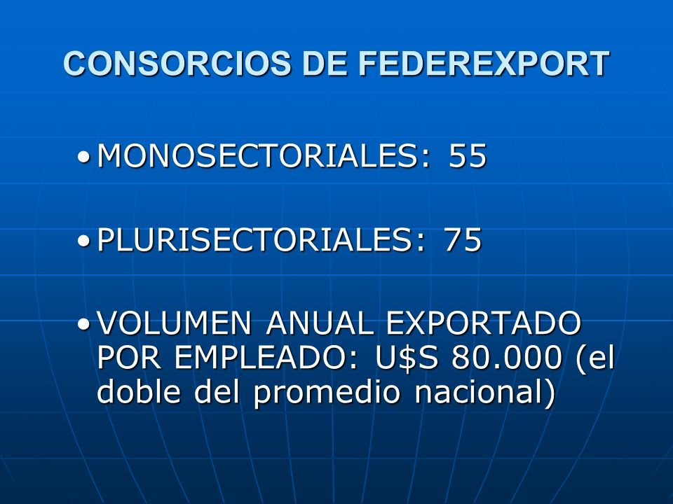 CONSORCIOS DE FEDEREXPORT