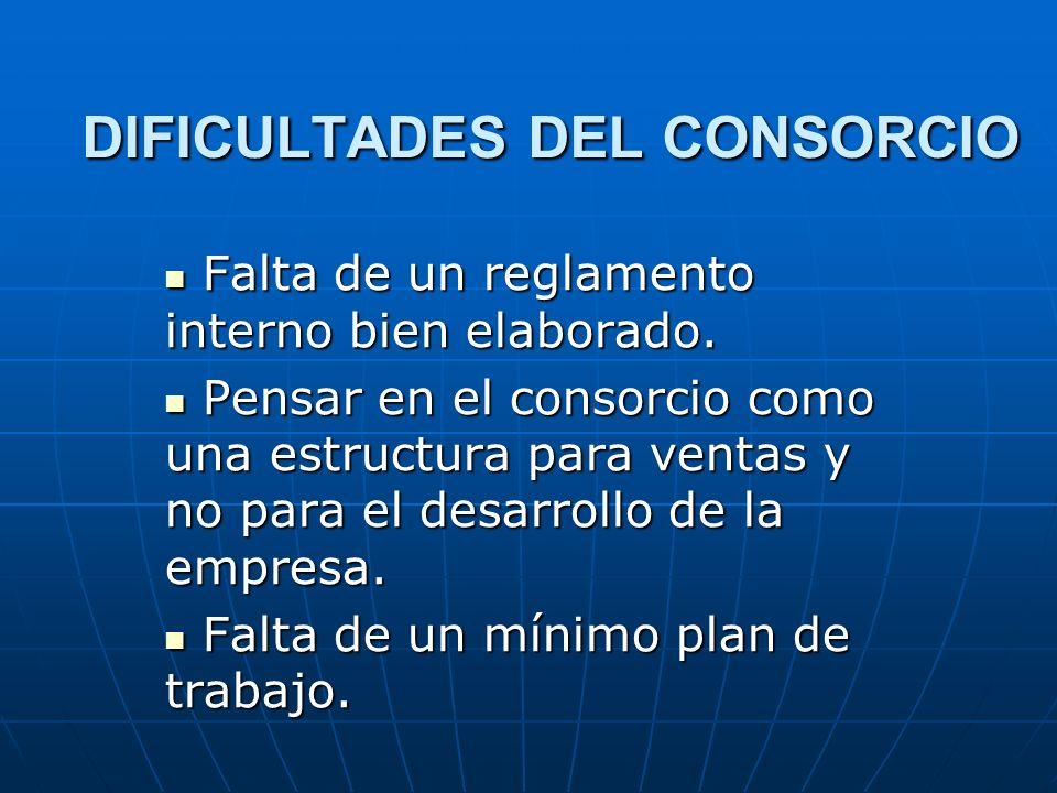 DIFICULTADES DEL CONSORCIO