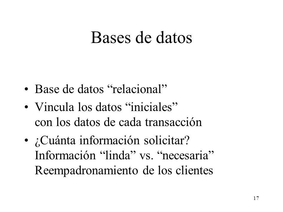 Bases de datos Base de datos relacional
