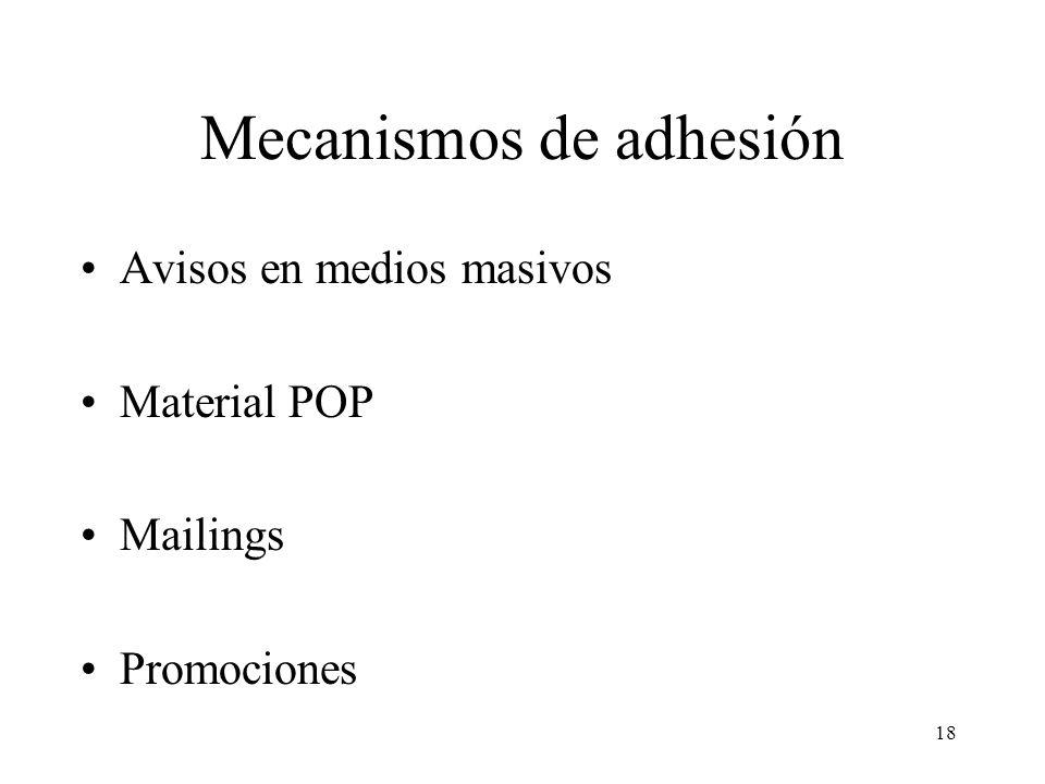 Mecanismos de adhesión
