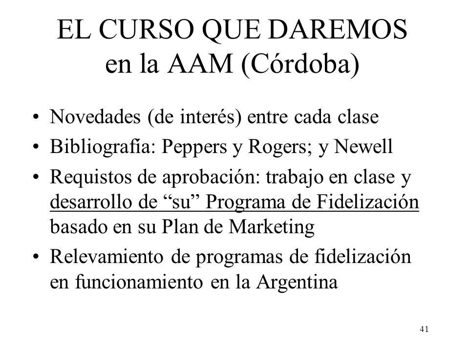 EL CURSO QUE DAREMOS en la AAM (Córdoba)