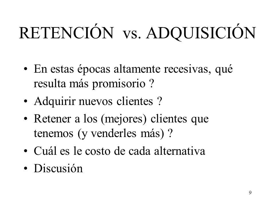 RETENCIÓN vs. ADQUISICIÓN